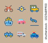 icons transport with arrival ... | Shutterstock .eps vector #1025689903