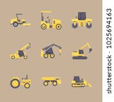 icons construction machinery... | Shutterstock .eps vector #1025694163