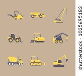 icons construction machinery... | Shutterstock .eps vector #1025695183