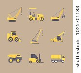 icons construction machinery... | Shutterstock .eps vector #1025701183