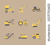 icons construction machinery... | Shutterstock .eps vector #1025701603