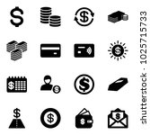 solid vector icon set   dollar... | Shutterstock .eps vector #1025715733