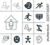 people icons. set of 13... | Shutterstock .eps vector #1025720287