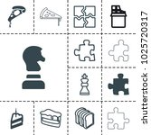 piece icons. set of 13 editable ... | Shutterstock .eps vector #1025720317