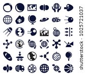sphere icons. set of 36... | Shutterstock .eps vector #1025721037