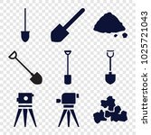 ground icons. set of 9 editable ... | Shutterstock .eps vector #1025721043