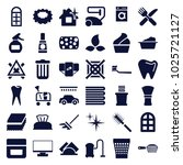 clean icons. set of 36 editable ... | Shutterstock .eps vector #1025721127