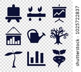 growing icons. set of 9...   Shutterstock .eps vector #1025722837