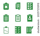 checklist icons. set of 9...   Shutterstock .eps vector #1025725393