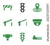 street icons. set of 9 editable ... | Shutterstock .eps vector #1025725597
