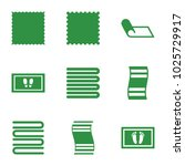 mat icons. set of 9 editable... | Shutterstock .eps vector #1025729917
