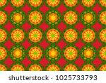 colored mandala. spiritual and... | Shutterstock . vector #1025733793