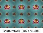 flower painting raster for t... | Shutterstock . vector #1025733883