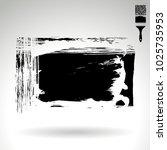 black brush stroke and texture. ...   Shutterstock .eps vector #1025735953