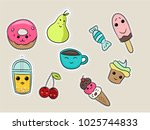 set of fashion patches  cute... | Shutterstock .eps vector #1025744833