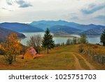 lake bicaz   romania saw autumn   Shutterstock . vector #1025751703
