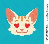 cat emotional head. vector... | Shutterstock .eps vector #1025762137