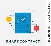 ethereum smart contract flat... | Shutterstock .eps vector #1025763553