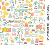 traveling pattern. colorful... | Shutterstock .eps vector #102576587