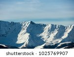 snowy caucasus mountains  the... | Shutterstock . vector #1025769907