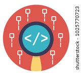 flat vector icon design of... | Shutterstock .eps vector #1025770723
