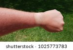 sun burnt forearm with white...   Shutterstock . vector #1025773783