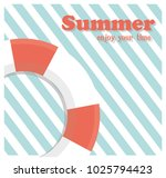 summer holiday concept vector... | Shutterstock .eps vector #1025794423