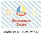 summer holiday concept vector... | Shutterstock .eps vector #1025794447