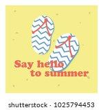 summer holiday concept vector... | Shutterstock .eps vector #1025794453