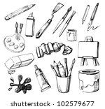 art icons | Shutterstock .eps vector #102579677