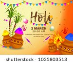 indian holi traditional...   Shutterstock .eps vector #1025803513