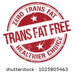 trans fat free stamp | Shutterstock .eps vector #1025805463