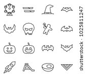 flat vector icon set   ferris... | Shutterstock .eps vector #1025811247