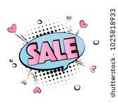 pop art pink blue sale. cool...   Shutterstock .eps vector #1025818933