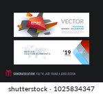 abstract vector set of modern... | Shutterstock .eps vector #1025834347