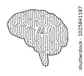 printed circuit board human... | Shutterstock .eps vector #1025841187