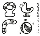 icons hand drawn toys. vector... | Shutterstock .eps vector #1025844547