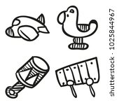 icons hand drawn toys. vector... | Shutterstock .eps vector #1025844967
