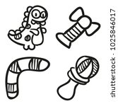 icons hand drawn toys. vector... | Shutterstock .eps vector #1025846017