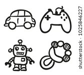 icons hand drawn toys. vector... | Shutterstock .eps vector #1025846227