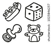 icons hand drawn toys. vector... | Shutterstock .eps vector #1025846257