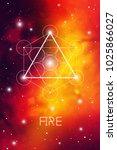 fire element symbol inside... | Shutterstock .eps vector #1025866027