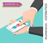 biometric id background with... | Shutterstock .eps vector #1025867023
