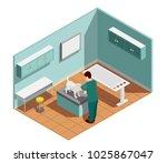 vet clinic isometric... | Shutterstock .eps vector #1025867047