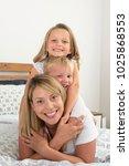 young blond caucasian woman... | Shutterstock . vector #1025868553