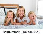 young blond caucasian woman... | Shutterstock . vector #1025868823