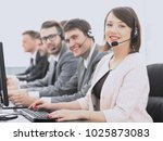 female customer service... | Shutterstock . vector #1025873083