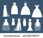 wedding white bride vector... | Shutterstock .eps vector #1025878957