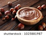 homemade hazelnut spread in... | Shutterstock . vector #1025881987