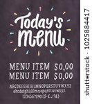 today's menu. chalkboard menu... | Shutterstock .eps vector #1025884417